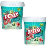 Kit 2 Detox Instantâneo Solúvel em Pó Sabor Abacaxi com Hortela 440g Unilife