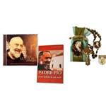 Kit Devoção Padre Pio - Livro + Cd +terço