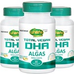 Kit 3 Dha Total Vegan Unilife 60 Cápsulas