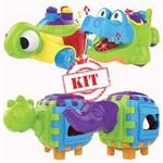 Kit Didáticos Jacaré 1084 Tartaruga 1085 Cubo Dino 1087 Cubo Elefante 1088 - Magic Toys