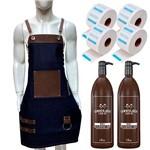 Kit do Barbeiro Lady Iv Completo com Shaving Avental e Gola Higiênica