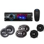"""Kit DVD Player Positron SP4310AV + Par de Alto Falantes 6 + Par de Alto Falantes 5"""" + Par de Alto Falantes 6x9"""""""