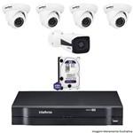 Kit Dvr Intelbras 8 Canais Mhdx 1 Câmera Ip Vip 1120b 4 Câmeras Ips Vip S 4020d Hd 1 Tb Wd Purple