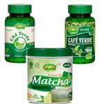 Kit Emagrecedor Matcha Termo Fit e Café Verde e Chá Verde