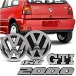 Kit Emblema da Grade e Porta Malas Gol G2 Bola 1995 a 1999 - GTI 2000 16v