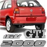 Kit Emblema do Porta Malas Gol G2 Bola 1995 a 1999 - GTI 2000 16v
