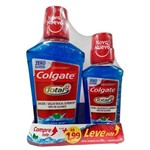 Kit Enxaguante Bucal Colgate Total 12 Clean Mint 500ml + Clean 250ml