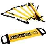 Kit Escada de Agilidade com 10 Degraus Pretorian Ec-pp + Faixa Elástica Tensão Leve Pretorian