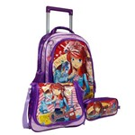 Kit Escolar Candy Mochilete Lancheira e Estojo Cd6047k Roxo