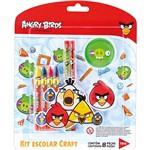 Kit Escolar Craft Angry Birds 8 Peças - Tris