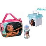 Kit Escolar Infantil da Moana Lancheira Térmica + Squeeze + Mini Box