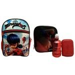 Kit Escolar Infantil Miraculous Ladybug Pacific : Mochila G Costas + Lancheira Térmica