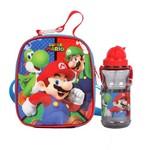 Kit Escolar Lancheira + Cantil Dmw Super Mario (11156+11535)