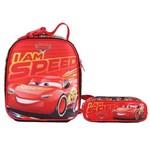 Kit Escolar Lancheira + Estojo Dermiwil Carros I Am Speed (51827+51829)