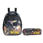 Kit Escolar Lancheira + Estojo Xeryus Batman Gothan Guardian (7594+7596)