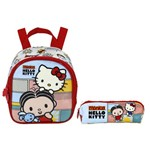 Kit Escolar Lancheira + Estojo Xeryus Mônica e Hello Kitty Bff (7914+7916)