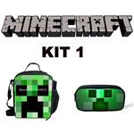 Kit Escolar Minecraft - Lancheira + Estojo - Exclusivo