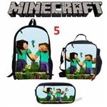 Kit Escolar Minecraft - Mochila, Lancheira e Estojo - Kit 5
