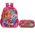 Kit Escolar Mochila 16 + Estojo Xeryus Paw Patrol Girl Team (7982+7985)