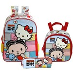 Kit Escolar Mochila 16 + Lancheira + Estojo Xeryus Mônica e Hello Kitty (7912+7914+7916)