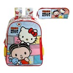 Kit Escolar Mochila 16 + Estojo Xeryus Mônica e Hello Kitty (7912+7914)