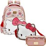 Kit Escolar Mochila 16 + Lancheira + Estojo Xeryus Hello Kitty Lovely Kitty (7902+7904+7905)