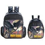 Kit Escolar Mochila 16 + Lancheira Xeryus Batman Gothan Guardian (7592+7594)