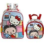 Kit Escolar Mochila 16 + Lancheira Xeryus Mônica e Hello Kitty (7912+7914)