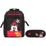 Kit Escolar Mochila + Estojo Triplo Dermiwil Minnie (51919+51921)