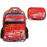 Kit Escolar Mochila G + Estojo Luxo Dermiwil Carros I Am Speed (51828+51830)