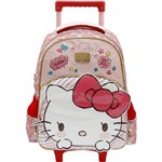 KIT ESCOLAR (mochila Rodinha 16 + Lancheira + Estojo Duplo) HELLO KITTY - TOP LOVELY KITTY