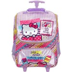 KIT ESCOLAR (mochila Rodinha 16 + Lancheira + Estojo) HELLO KITTY - WASHI PINK