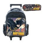 Kit Escolar Mochilete 16 + Estojo Xeryus Batman Gothan Guardian (7590+7596)