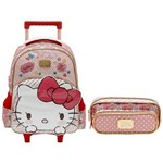 Kit Escolar Mochilete 16 + Estojo Xeryus Hello Kitty Lovely Kitty (7900+7905)