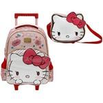 Kit Escolar Mochilete 16 + Lancheira Xeryus Hello Kitty Lovely Kitty (7900+7904)
