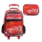 Kit Escolar Mochilete G + Estojo Luxo Dermiwil Carros I Am Speed (51828+51831)