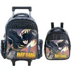 Kit Escolar Mochilete + Lancheira Xeryus Batman Gothan Guardian (7590+7594)