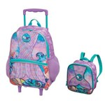Kit Escolar Pack me Mermaid Mochilete + Lancheira - Pacific