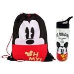 Kit Escolar Saco com Alças + Garrafa Dermiwil Mickey (51925+51928)