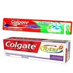 Kit Escova Dental Colgate Twister + Creme Dental Colgate Total 1
