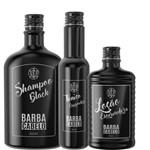 Kit Loção Shampoo Escurecedora Mais Tônico Capilar Masculino