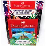 Kit Faber-Castell Lápis de Cor 24 Cores + Livro para Colorir PXL