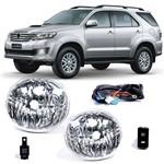 Kit Farol de Milha Auxiliar Toyota Hilux Sw4 2012 a 2015 Botão Modelo Original