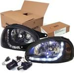 Kit Farol Led Mascara Negra + Leds H4 - Kit14118zn Corsa Classic /corsa