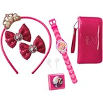 Kit Fashiontastic da Barbie Radio FM + Tiara + Presilhas + Relógio + Bolsa - Candide