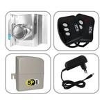 Kit Fechadura Eletrônica Porta Vidro 1 Folha Furo com Controle Remoto AGL
