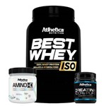 Kit Fit Athetica Best Iso Whey Morango Amino HD Creatina