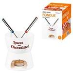 Kit Fondue Loucos por Chocolate - Porcelana 2 Garfos- 350ml