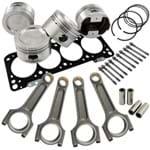 Kit Forjado COMPLETO AP 1.8 Turbo: Pistão 83,75mm Super a Aneis/pinos/travas + Bielas Super a Basic 144 + Junta de Cabeçote + Prisioneiros 118mm (VW AP Até 96)
