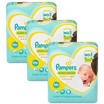 Kit Fralda Pampers Premium Care Recém Nascido Plus com 60 Unidades - 3 à 6Kg